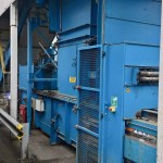 PAAL Pacomat V-50 CBH Channel Baling Press Complete with In-Feed Conveyor.